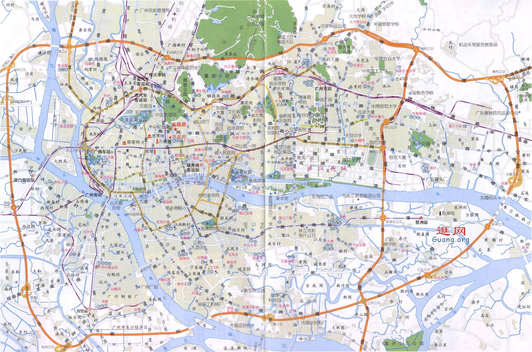 guangzhou广州地图市区地图
