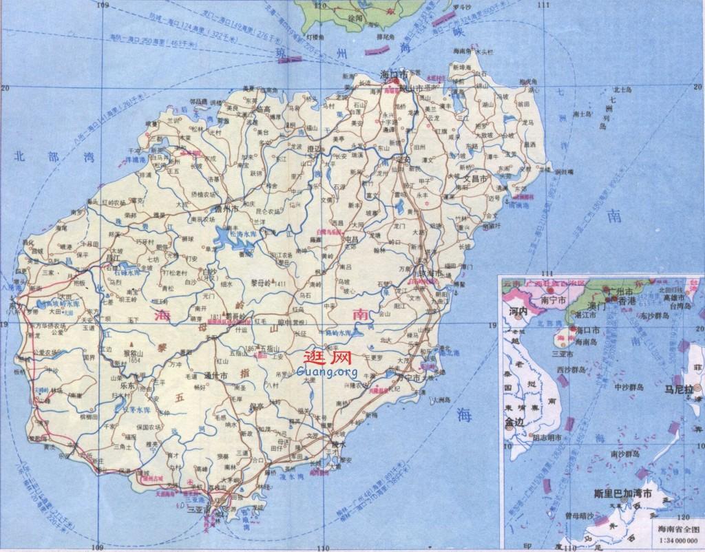 海南地图 手绘 素材